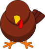 Turkey Without Eyes Clip Art