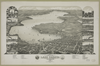 Bird S Eye View Of Lake Geneva, Walworth Co., Wis. 1882 Image