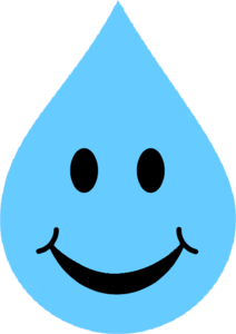 Smile Sky Blue Water Drop | Free Images at Clker.com - vector clip art ...