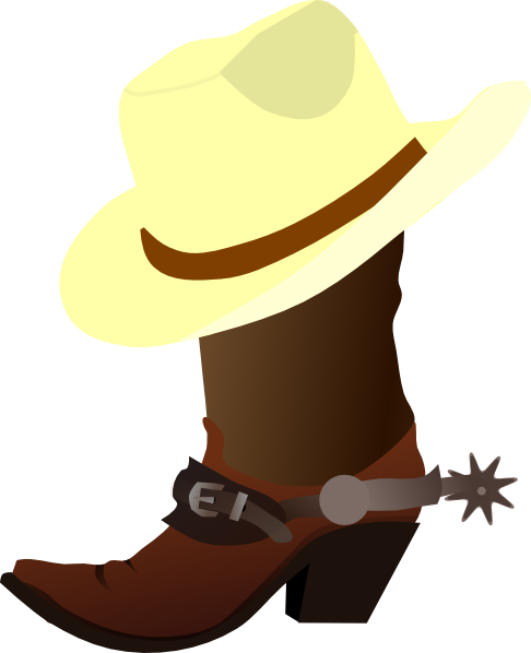 White Cowboy Hat And Boots Clip Art at Clker.com - vector ...