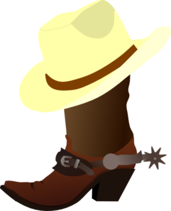 White Cowboy Hat And Boots Clip Art