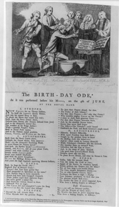 The Birth-day Ode* - As It Was Preformed Before His M--, On The 4th Of June, By The Royal Band Image