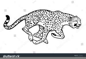 Zoo Black And White Clipart Image