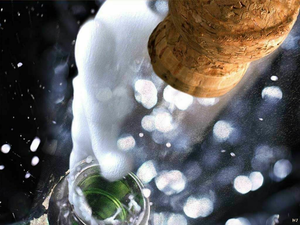 Champagne Cork Flying Image
