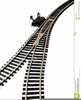 Train On Tracks Clipart Image