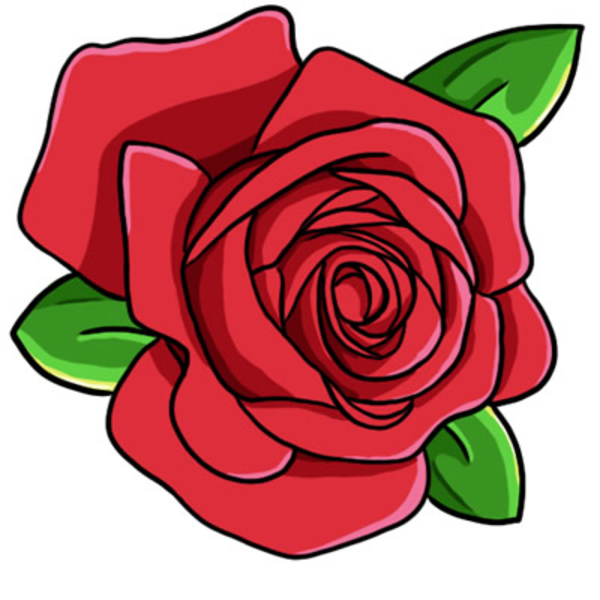 red roses clipart - photo #3