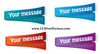 Multi Colored Stickers Vector Image