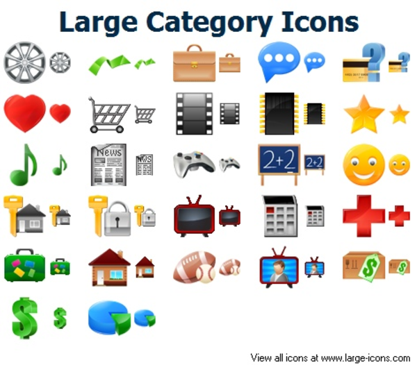 Large Category Icons Free Images At Clkercom Vector Clip Art