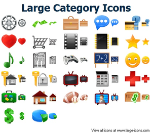 Large Category Icons Image