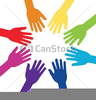 Free Clipart Linked Hands Image