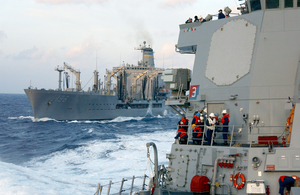 The Military Sealift Command (msc) Oilier Usns Kanawha (t-ao 196). Image