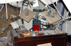 Damaged Office Inside The Pentagon Image