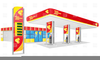 Cartoon Gas Station Clipart Image