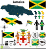 Jamaica Map Clipart Image