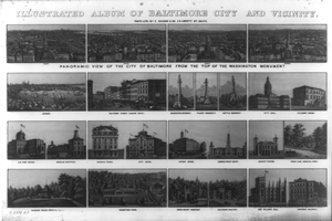 Illustrated Album Of Baltimore City And Vicinity Image