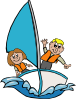 Kids Sailing Clip Art