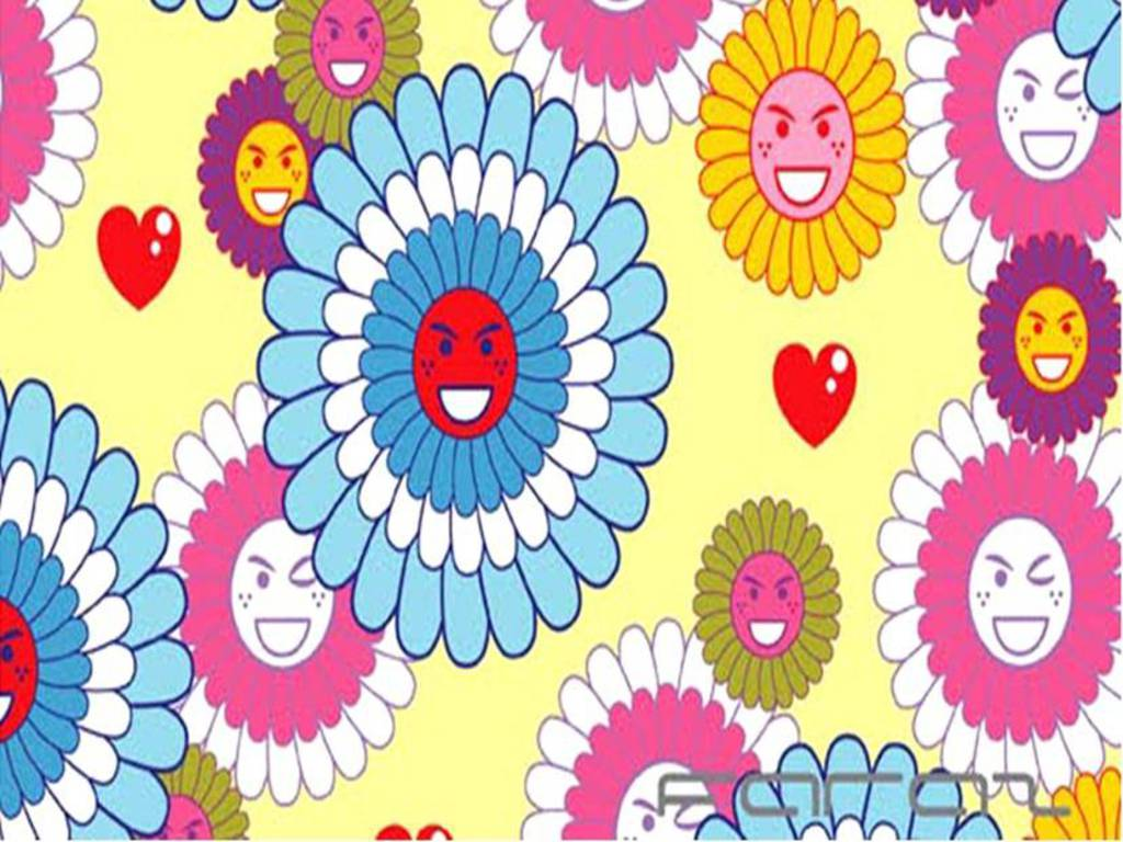 Cartoon Flowers Wallpaper Vyvxo Free Images At Clker Vector