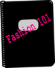 Fashion 101 Notebook Clip Art
