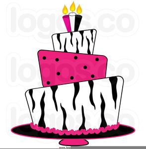 Free Happy Birthday Cake Clipart Image
