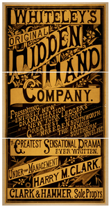 Whiteley S Original Hidden Hand Company Presenting An Entirely New Dramatization Of The New York Ledger S Greatest Story By Mrs. E.d.e.n. Southworth, The Famous Southern Novelist : The Greatest Sensational Drama Ever Written.   Image