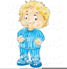 Little Girl Pajamas Clipart Image