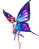 Fantasy Fairy Standing Big Purple Wings Image