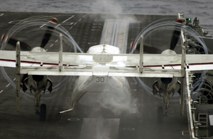 A C-2 Greyhound Is Launched From The Flight Deck Aboard Uss John C. Stennis (cvn 74) Image