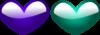 Blue Pink Hearts Clip Art