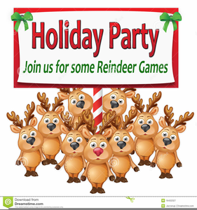 Christmas Party Invitation Free Clipart Image