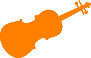 Orange Violin Clip Art