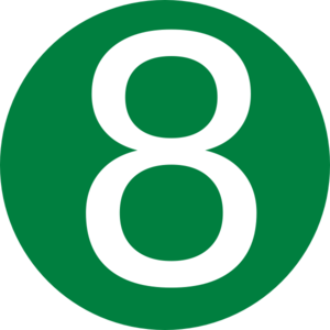 Red, Rounded,with Number 7 Clip Art