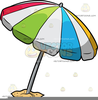Beach With Umbrella Clipart Image