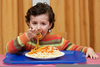 Child Eating Lunch Image