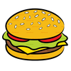 Burger And Drink Clipart Image