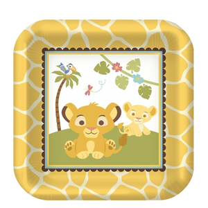 Lion King Baby Shower Plates Image