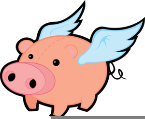Clipart Flying Pigs Image