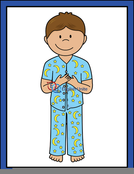 putting on pajamas clipart free images at clker com vector clip rh clker com pajamas clip art image pajamas clipart black and white