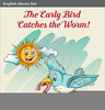 Bird Catching Worm Clipart Image