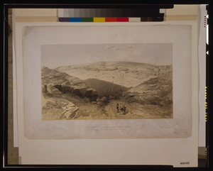The Valley Of The Shadow Of Death Caves In The Woronzoff Road Behind The 21 Gun Battery / W. Simpson, Del. ; J. Needham, Lith. ; Day & Son, Lithrs. To The Queen. Image