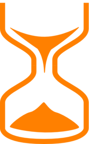 Orange Hourglass Clip Art
