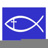 Christian Fish Outline Clipart Image