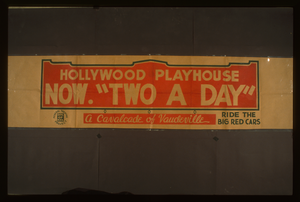 Hollywood Playhouse Now  Two A Day  A Cavalcade Of Vaudeville : Ride The Big Red Cars. Image