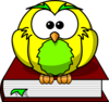 Yellow Intelligent Owl Clip Art