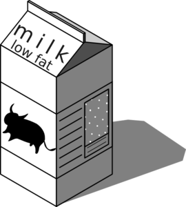 Low Fat Milk Clip Art