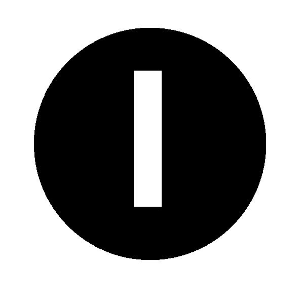 White Letter I Clip Art at Clker.com - vector clip art ...