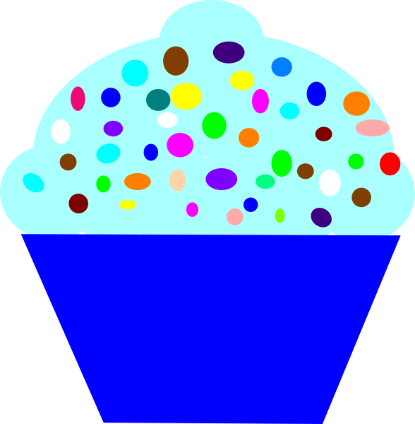 Blue Cupcake Images : Cupcake Blue Clip Art at Clker.com - vector clip art ...