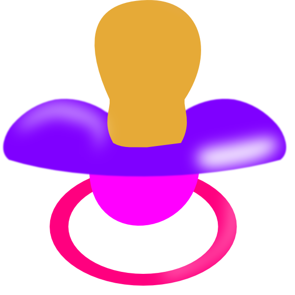purple and pink pacifier clip art at clker com vector Baby Bottle Clip Art Baby Bottle Clip Art