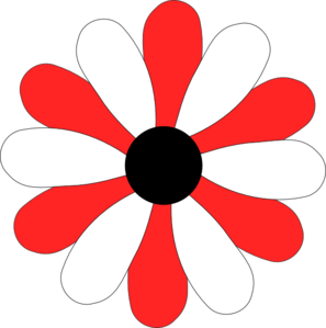 Red And White Gerber Daisy Clip Art at Clker.com - vector clip art ...