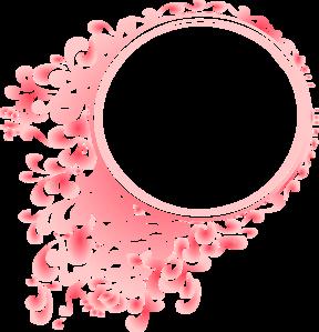 Pink Radial Gradient Circle Border Clip Art