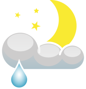 Rain At Night Clip Art